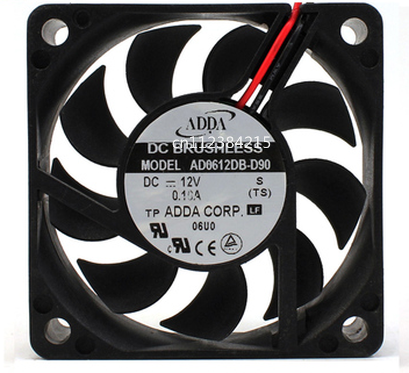 Free Shipping AD0612DB-D90 6015 12V 0.10A 6CM Cooling Fan