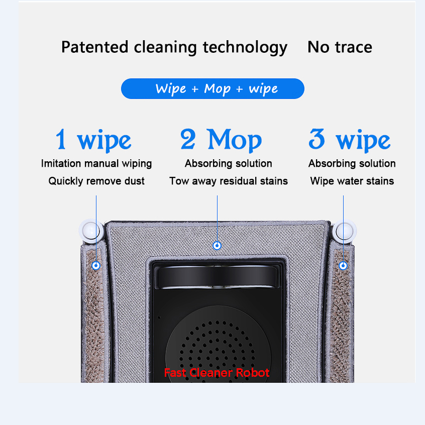 Anti-Falling Window Cleaner Robot for Automatic Glass Cleaning with Remote Control 5