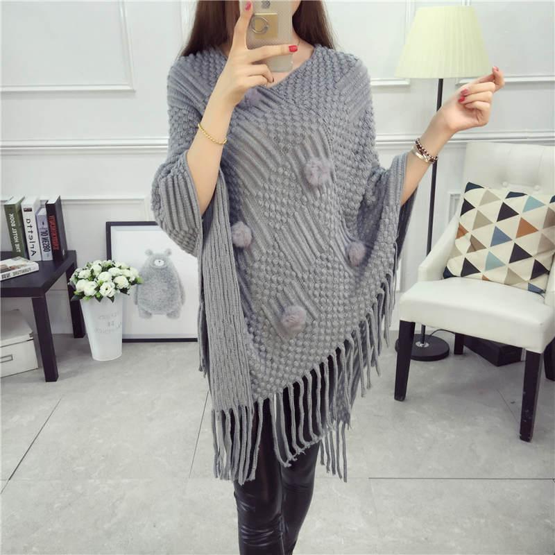 Dames Sweater Pullover Kwastje Truien Vleermuis-mouw Mouw Gilet - Dameskleding