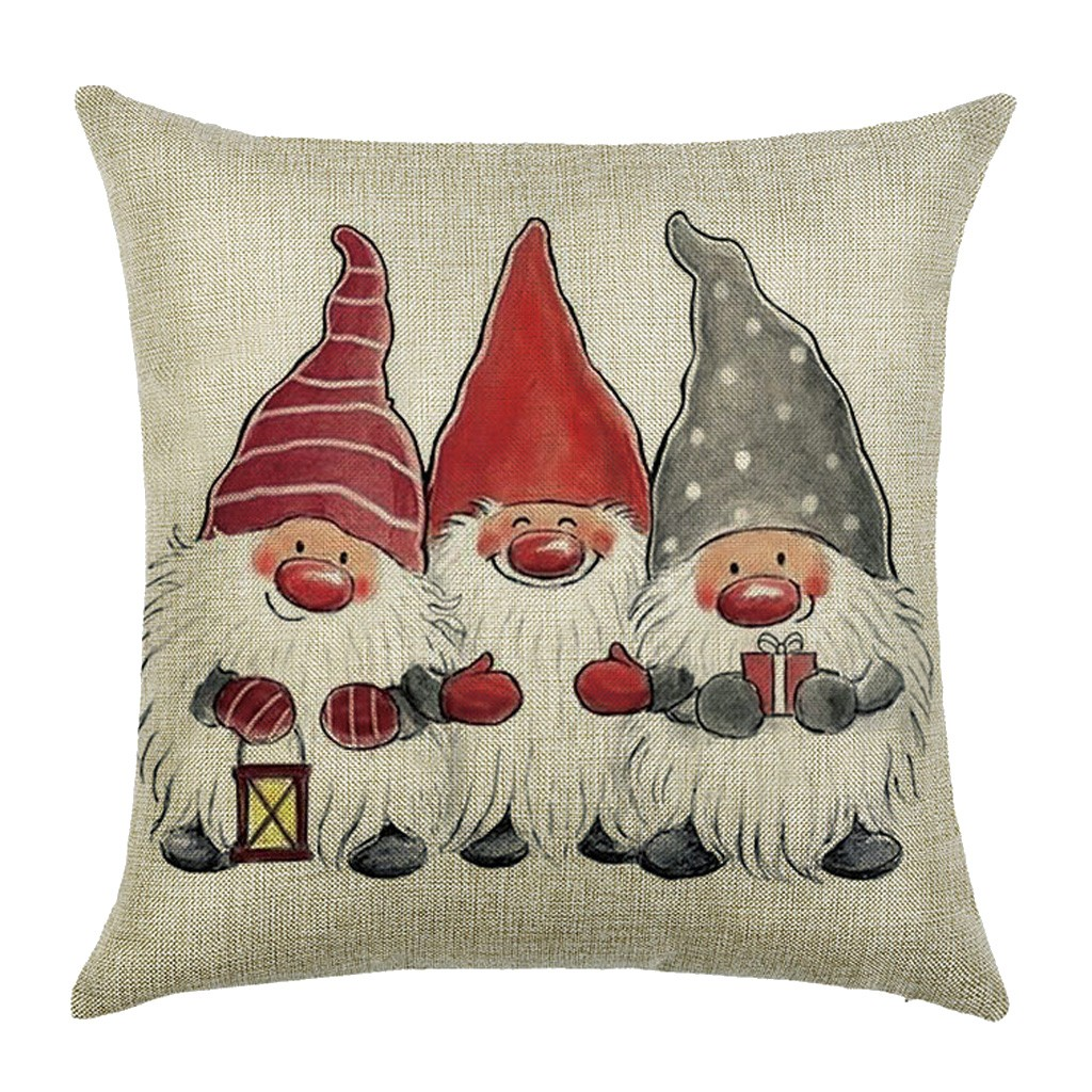 Christmas Cushion Cover Merry Christmas Decorations For Home 2021 Christmas Ornament Navidad Noel Xmas Gifts Happy New Year 2021