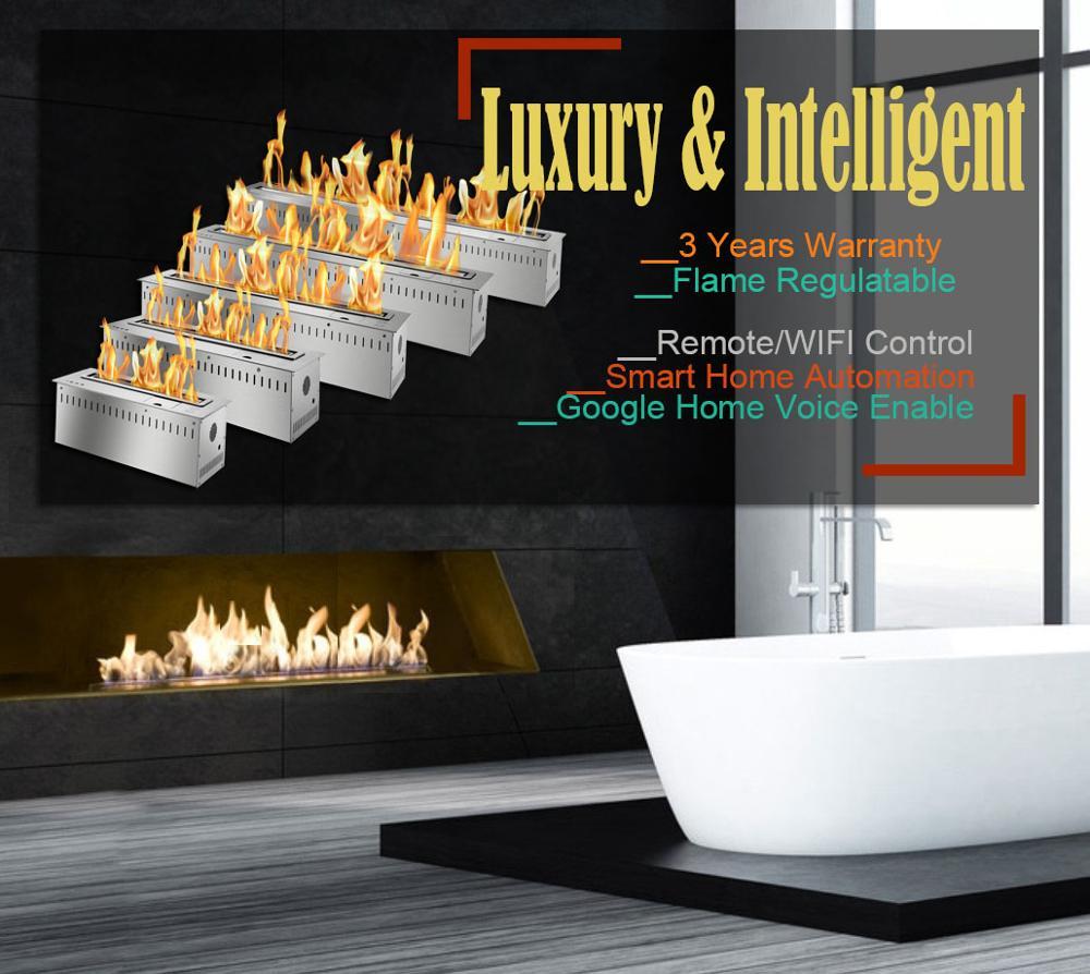 Inno Living 30 Inch Bioethanol Burner Remote Control Bio Fireplaces