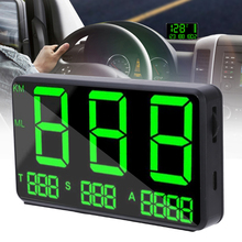 4.5INCH C80 Big Fonts Display GPS Hud Car GPS Speedometer Projector Bracelet KM/h MPH Speed Alarm Time Compass Mileage a8 car hud head up display car speedometer 5 5 inch windscreen projector obd2 code reader speed alarm voltage mph km h display
