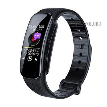 1080P HD Slim Mini Large OLED Screen Mini DV Camera Voice Video Recording Recorder Reporter Smart Wristband Band Watch Bracelet