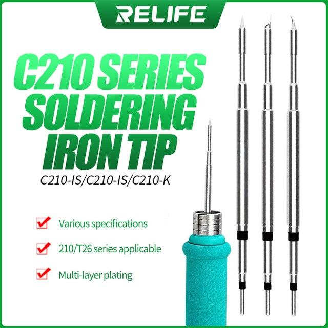 RELIFE RL-C210 Soldering Iron Tips Welding head for JBC CD-2SE Sugon T26 Soldering Station 2
