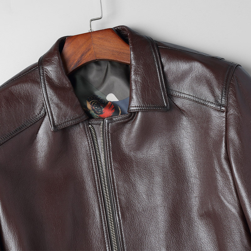 Men's Leather Jacket Goatskin Genuine Leather Coats Men 2020 Short Korean Spring Autumn Leather Jackets 81B705 KJ2417