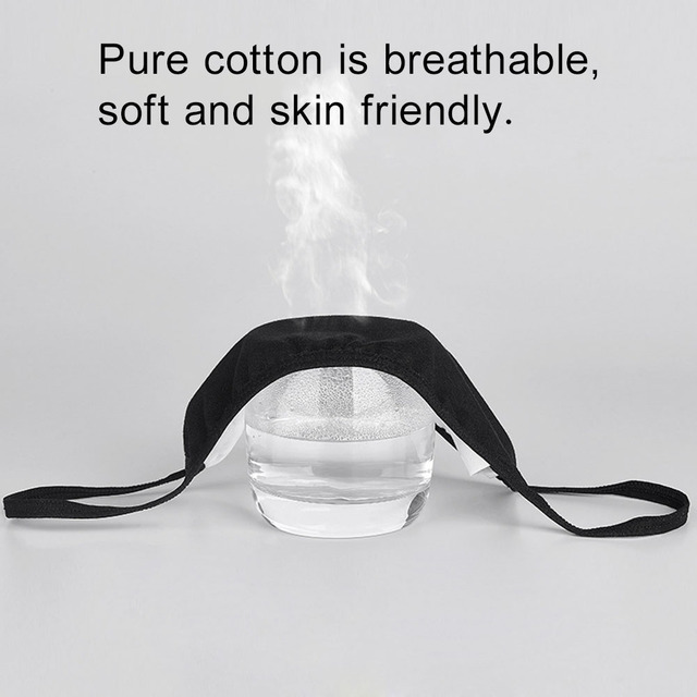 5 pcs Cotton Black Mask mouth face Mask Anti PM2.5 dust Anti-Haze Windproof Mouth Mask korean Mask Fabric Face Mask In stock 4