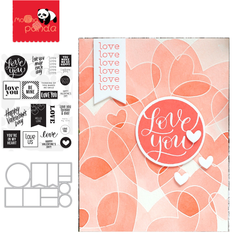 VALENTINES WORD Metal Cutting Dies And Stamps For Scrapbooking DIY Photo Album Card Making Decorative Stencil New 2019