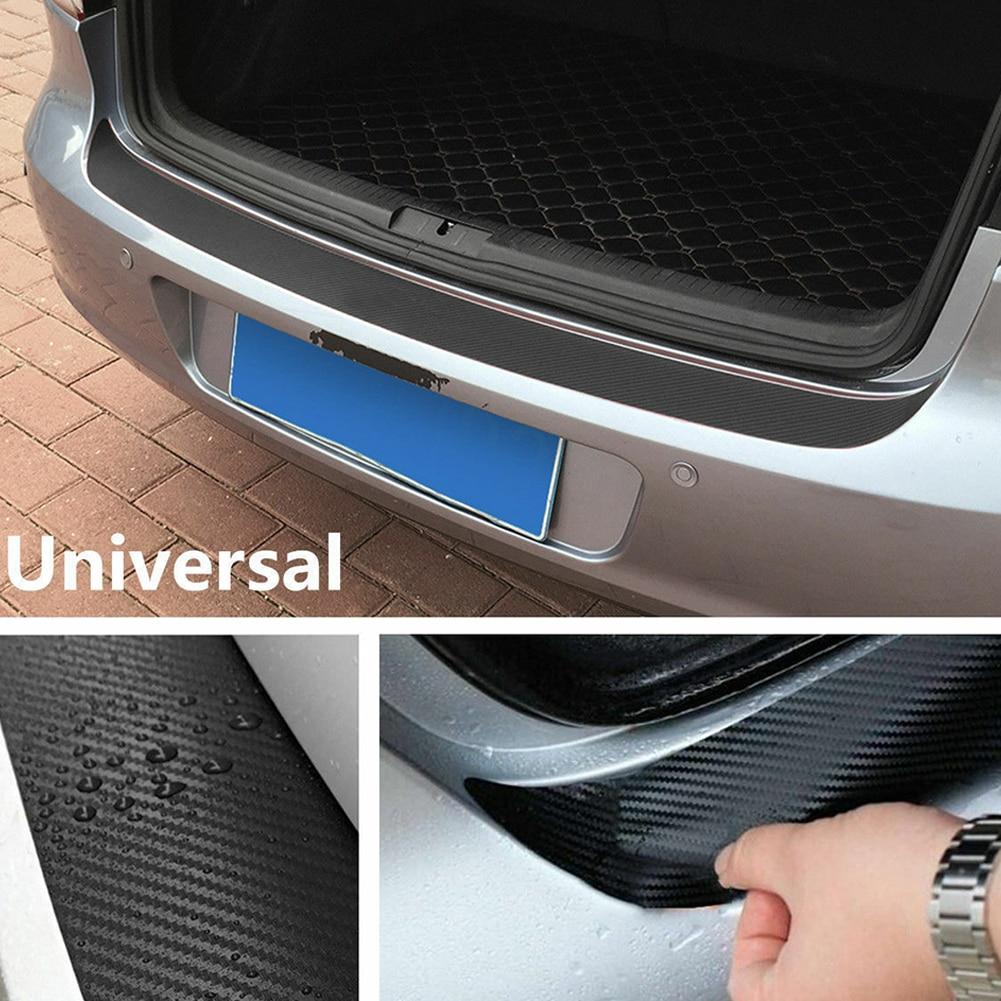 Image 4 - Car SUV Rear Bumper Sill Protector Plate Rubber Cover Guard Pad Moulding Trim Car DIY Rubber Pad Trim Anti Scratch Cover Strip