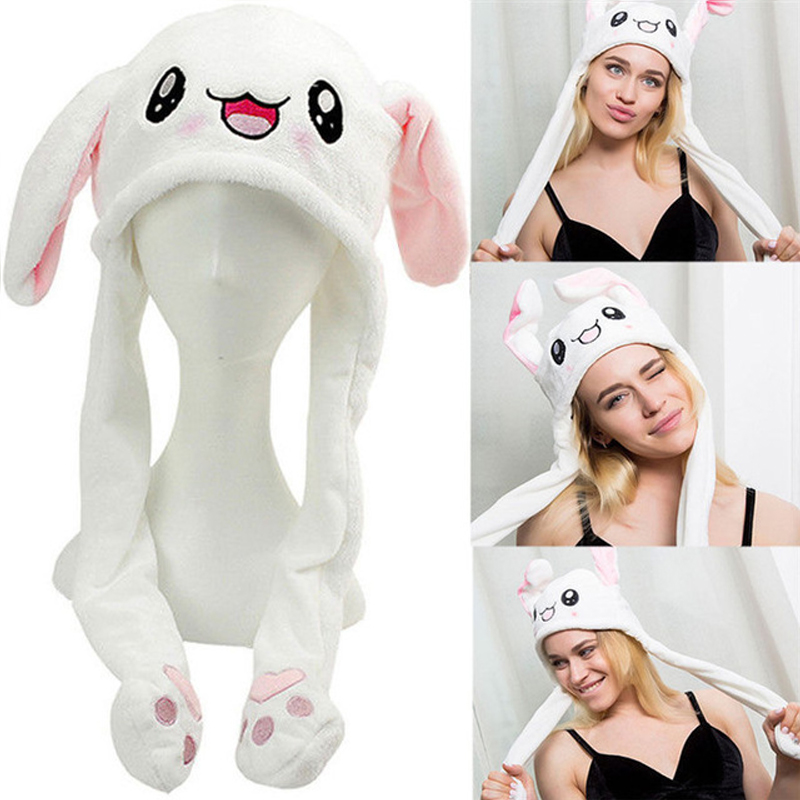 Rabbit Pinching Rabbit Ear Cap Children's Toys  Gifts Girls Girlfriends Female Accessories Mobile Airbag Cap Toy Cute Plush
