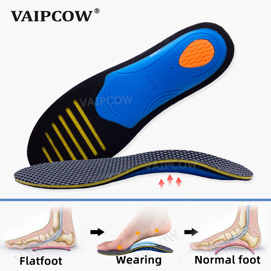 Unisex Distinctive EVA Orthotic Insole For Flat Foot Shoes Pad Arch Support Orthopedic Insoles For Correction OX Leg Health Sole