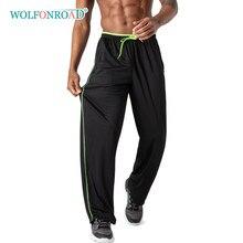 WOLFONROAD Breathable Mesh Fabric Men's Sport Pants Sweatpants Gym Fitness Yoga Running Pants Trousers Men Jogger Casual Pants