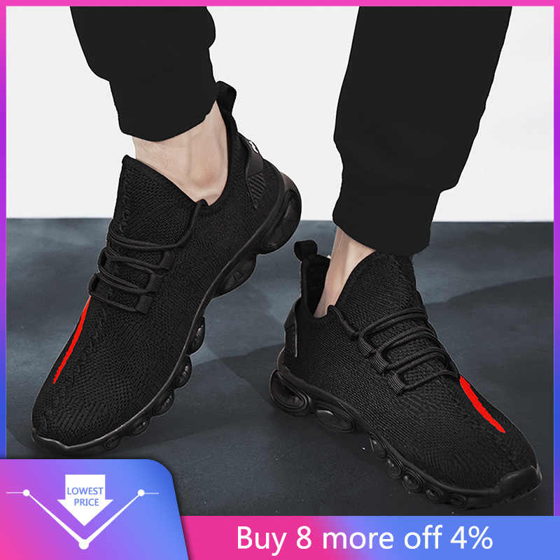running shoes for men slip on sneakers Breathable Mesh Lightweight Sports Shoes Casual running shoes for women salamon#g3
