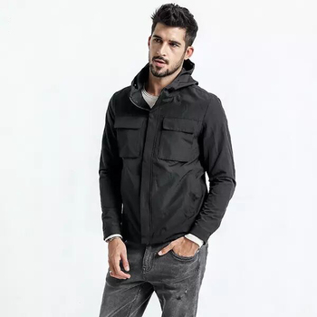 Brand  Jacket Coat Mens Warm Jackets Male Solid Color Stand Collar Zipper Thick Coats