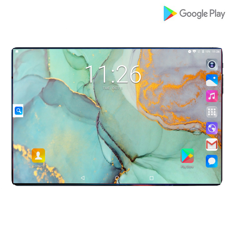 6+128GB 10 Inch Tablet PC 4G Android 9.0 Octa Core Super Tablets Ram 6GB Rom128GB WiFi GPS 10.1 Tablet IPS T10 Dual SIM GPS Pad
