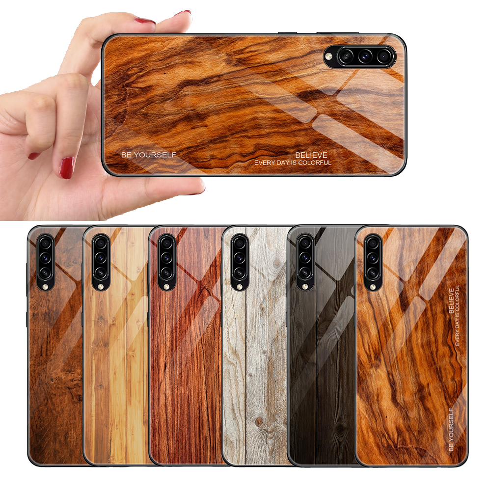 <font><b>Wood</b></font> Pattern <font><b>Case</b></font> For <font><b>Samsung</b></font> <font><b>Galaxy</b></font> A50 <font><b>A40</b></font> A30 A20 A10 A50S A30S PC Hard Phone <font><b>Case</b></font> <font><b>Wood</b></font> Texture Tempered Glass <font><b>Case</b></font> image