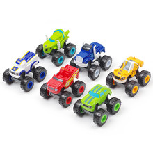 1PCS Independent Toy racing car Blaze Monster Diecast Toy Racer Cars Trucks Action Figure  for Children Christmas Gift