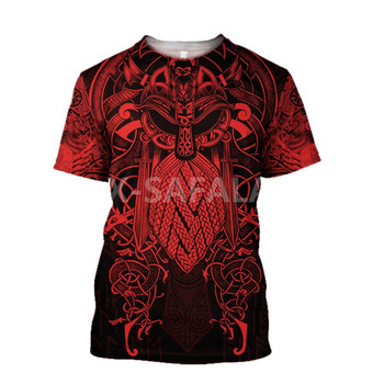 Summer Fashion Men T shirt  Fenrir Viking Odin Tattoo 3D All Over Printed T shirts Unisex Harajuku shirt Casual Tee Tops-1 2