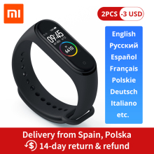 Xiaomi Mi-Band Screen Smart-Bracelet Waterproof Bluetooth 5.0 50m 4 120X240 AMOLED Full-Color