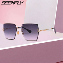 Seemfly 2019 New Oversized Sunglasses For Women Square Sun Glasses Fashion Female Male Designer Shades Oculos Gafas De Sol UV400