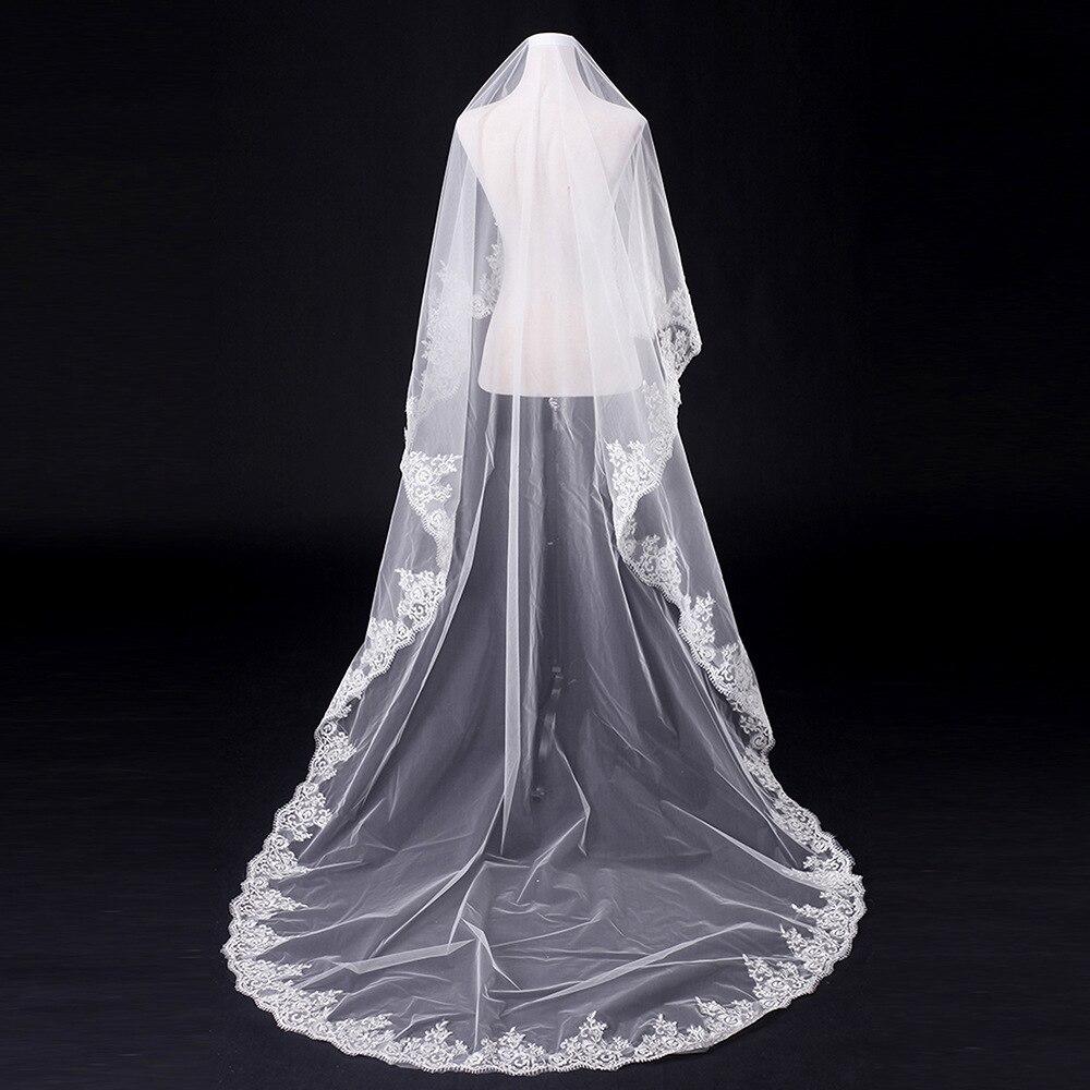 Bride Wedding Dress Headdress Accessories Marriage Formal Dress Veil Lace Europe And America Thin 3 M Veil Customizable