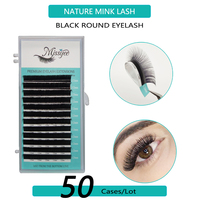 50 Cases/Lot eyelashes extension supplies False professional mink Eyelashes Extensions Russian Volume Lashes