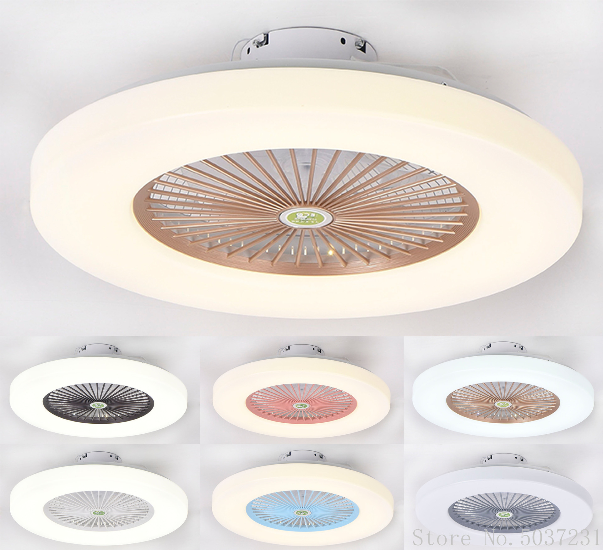 Modern Minimalist Ultra Thin Ceiling Light Fan Light Ceiling Nordic Restaurant Bedroom Led Ceiling Fan Lamp Remote Dimming Lamp Special Offer 3576 Cicig
