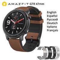 """AMAZFIT GTR 47mm inteligentny zegarek wersja międzynarodowa 5ATM 1.39 """"AMOLED GPS + GLONASS Smartwatch mężczyźni 24 dni baterii"""