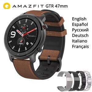 """Image 1 - Amazfit Gtr 47Mm Smart Horloge Internationale Versie 5ATM 1.39 """"Amoled Gps + Glonass Smartwatch Mannen 24 Dagen Batterij"""