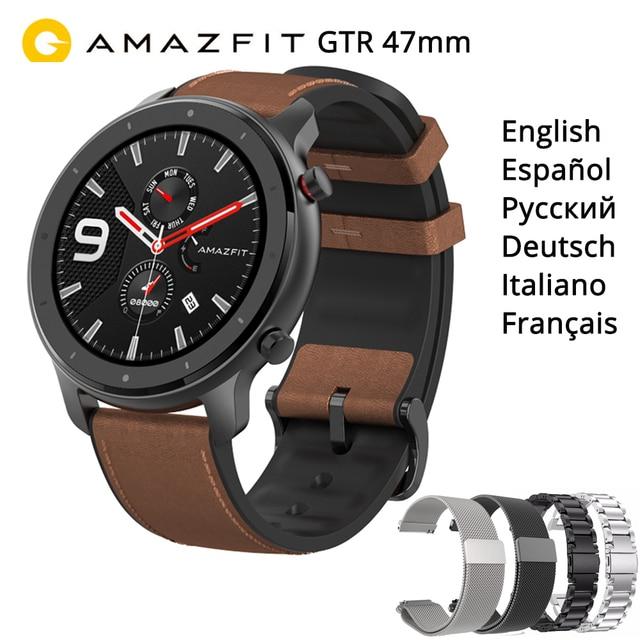 """Amazfit Gtr 47Mm Smart Horloge Internationale Versie 5ATM 1.39 """"Amoled Gps + Glonass Smartwatch Mannen 24 Dagen Batterij"""