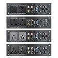 Панель из алюминиевого сплава AC 110-240 В USB аудио VGA сетевой HDMI интерфейс UK/EU/US/CN электрическая розетка плата питания китайский адаптер