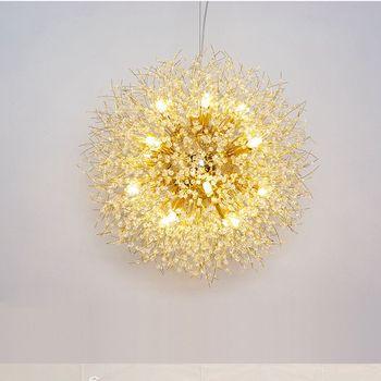 Lukloy Nuovo Dente Di Leone Perline Di Cristallo Lampadario Lampada A Sospensione Per Il Ristorante Cafe Decorazione G9 Sorgente Luminosa A Led Lampadari Foyer