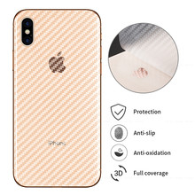 Carbon Fiber Back Film Sticker For iphone 7 8 6 6S Plus 11Pro Max 11 Screen Protector For iPhone XS Max XR X XS 11Pro 2019(China)