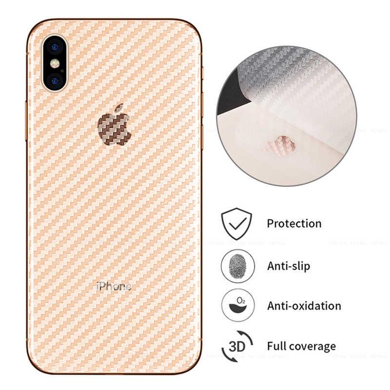 ألياف الكربون الخلفي لاصق غشائي ل iphone 7 8 6 6S زائد 11Pro ماكس 11 واقي للشاشة ل iphone XS ماكس XR X XS 11Pro 2019