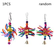 Cage-Accessories Toys Swing Bird Parrot Bite-String OOTDTY Multicolor