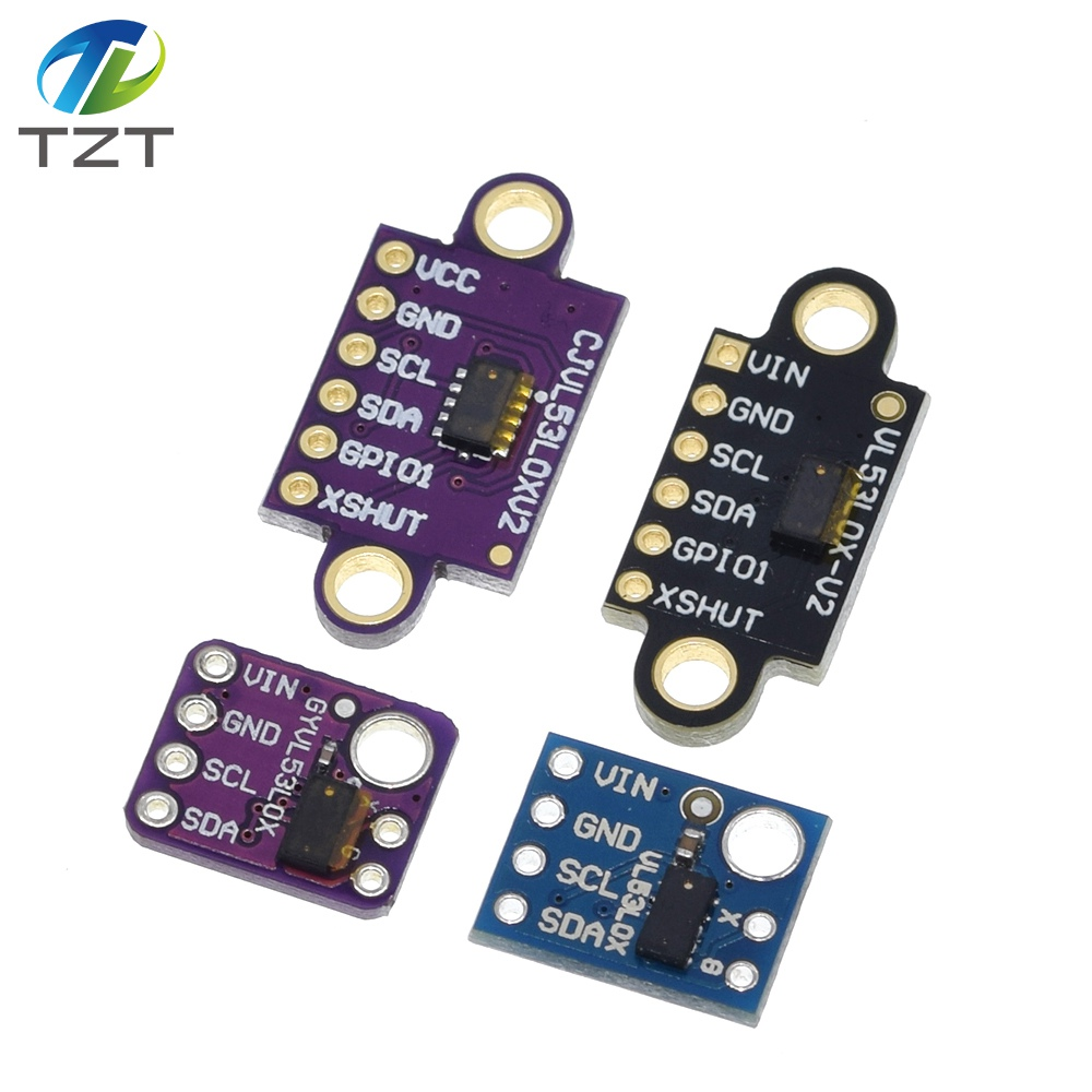 2pcs Time-of-Flight ToF Ranging Sensor 2m Distance Laser Distance Module