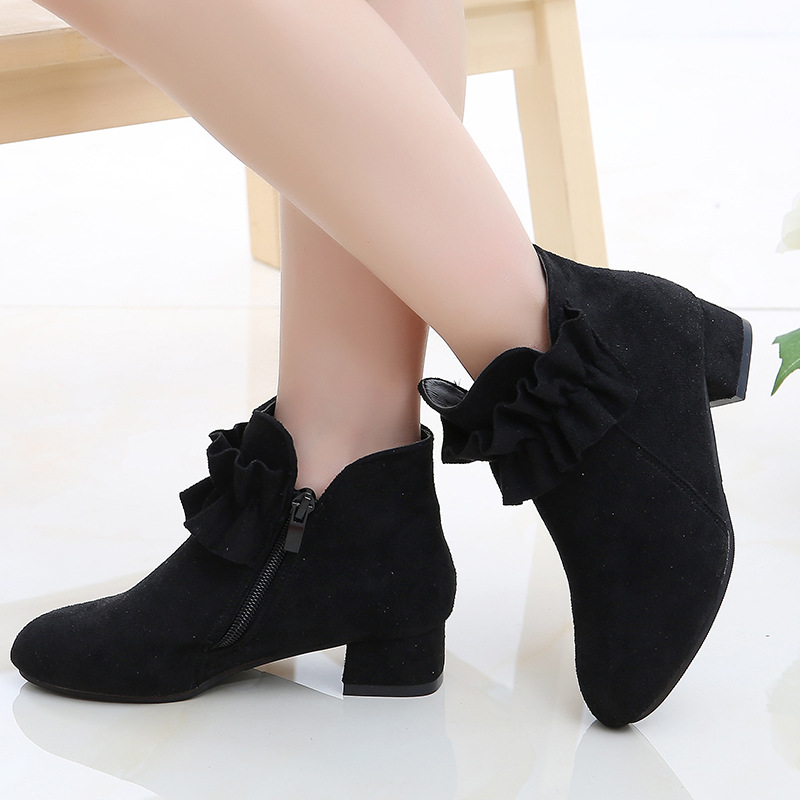 buy \u003e children's ankle boots with heels