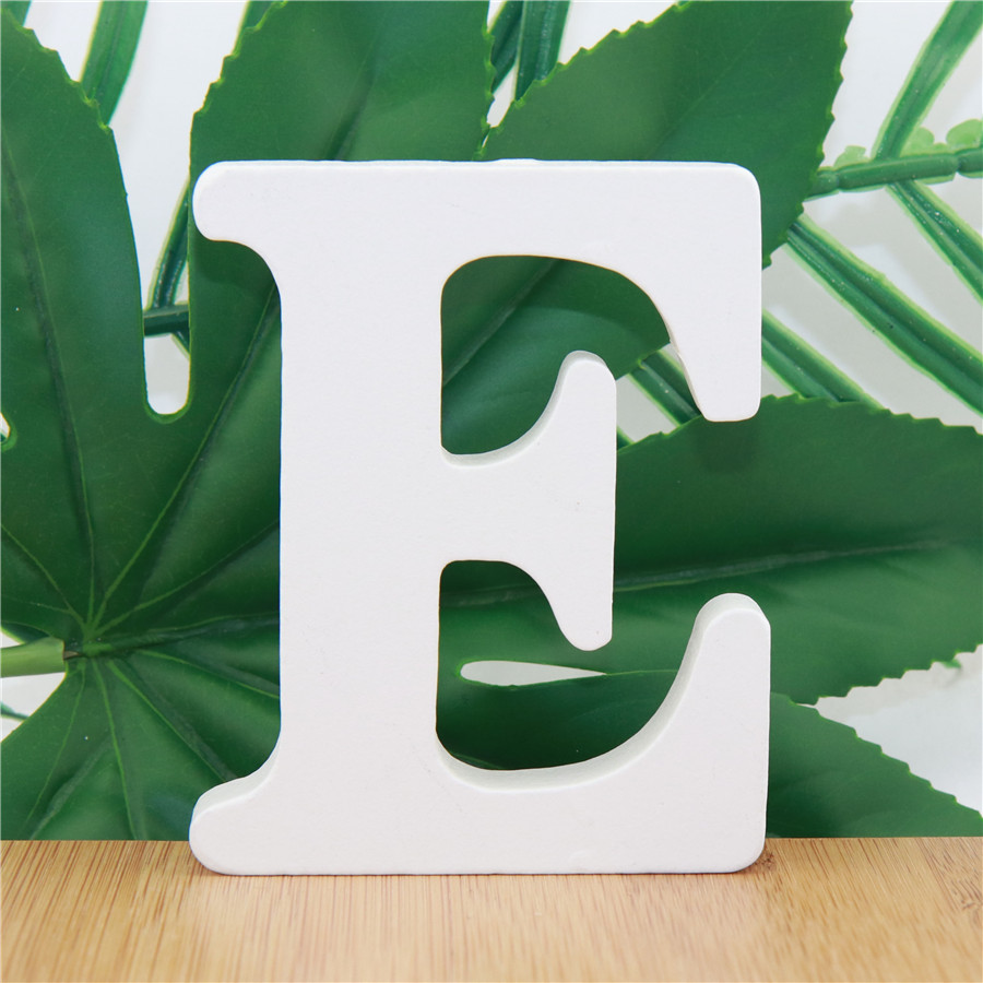 1pc 10cm Party Wedding Home Decor Wooden Letters Alphabet Word Letter White Name Design Art Crafts Standing DIY 3.94 Inches