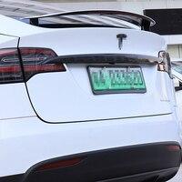 Car Trunk Trim Strip Carbon Fiber ABS Tail Trim Sticker Modified Exterior Decoration for Tesla Model X Accessories