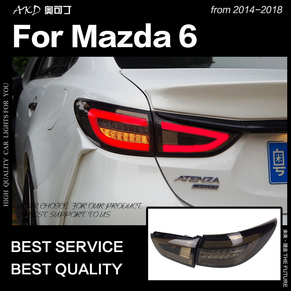 AKD Car Styling for <font><b>Mazda</b></font> <font><b>6</b></font> Atenza <font><b>LED</b></font> Tail <font><b>Light</b></font> New Mazda6 <font><b>LED</b></font> Tail Lamp <font><b>LED</b></font> DRL Signal Brake Reverse auto Accessories image