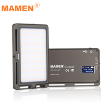MAMEN Ultra Thin Dimmable LED Video Light 120 Pcs CRI96 OLED Display with Battery On Camera DSLR Photography Lighting Fill Light