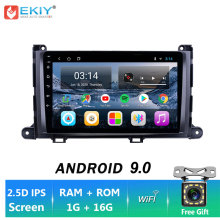 EKIY 9'' IPS Andriod 9,0 Auto Radio Für Toyota Sienna 3 XL30 2011-2014 Stereo Multimedia Video Player GPS navigation LTE Kamera