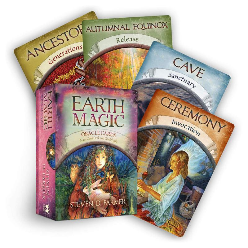 HOT!!!Magic Oracle Cards Earth Magic Read Fate Tarot Card Game For Personal Use Board Game 48-card Deck And Guidebook