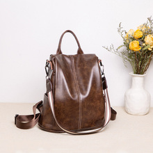 women backpack vintage anti-thief backpacks school for teenage girls 100% Genuine leather large shoulder bags for travel