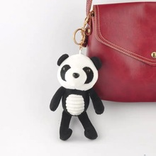 цены FXM 15cm cute panda plush key ring creative cartoon mobile phone bag car plush pendant cartoon plush toy doll
