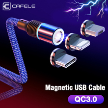 CAFELE QC3.0 Magnetic USB Cable USB Type C Micro Cable for iPhone X XS MAX XR 8 7 6 Plus 3A Fast Charging Data Sync Cables Wire цены
