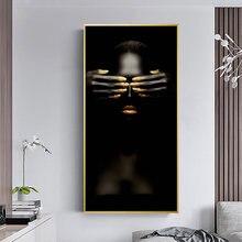 Черная и черная африканская обнаженная женская картина маслом
