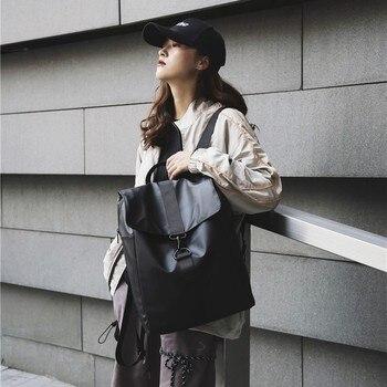 Fashion Backpack Cool Oxford Cloth Unisex High Quality Bagpack Unisex Simple Bag Sturdy Trend Black Gold cool style oxford cloth slr camera shoulder bag black