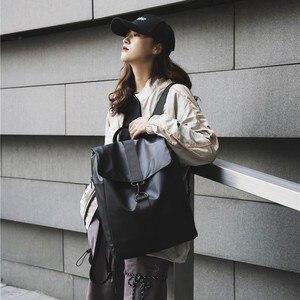 Image 1 - ファッション女性バックパッククールオックスフォード布ユニセックス高品質bagpackシンプルなバッグ防水毎日バッグ頑丈なトレンド黒ゴールド