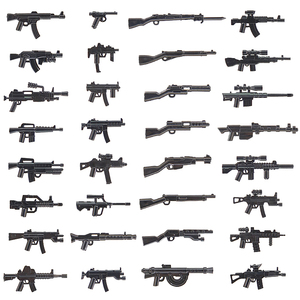 MOC Military Weapons Gun Pack City Police Swat LegoING Army WW2 Soldiers Brick Accessories PUBG Building Blocks Parts Kids Toys(China)