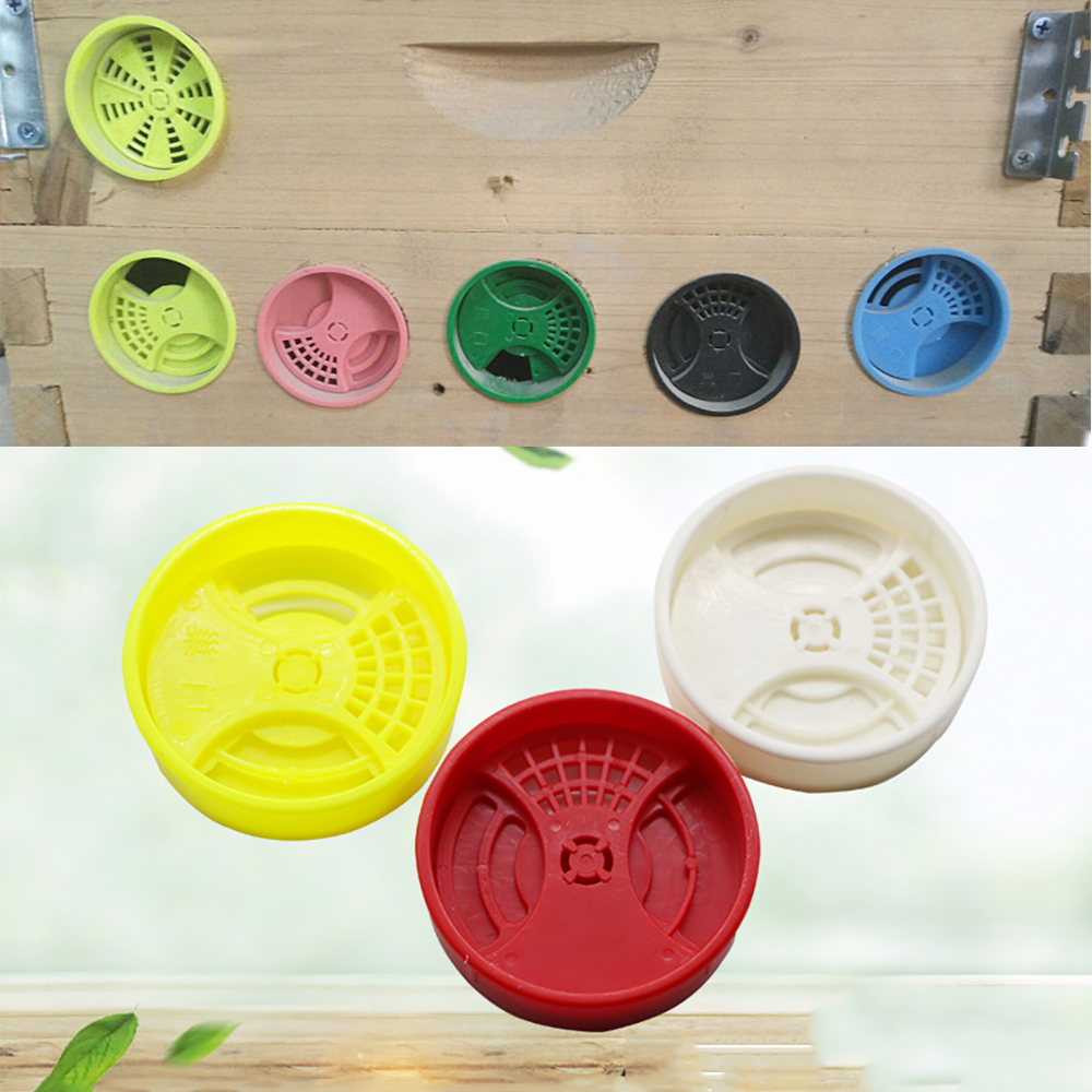 3PCS Beehive Door Nest Ventilate Multicolor Anti Run Escape Fan Entrance Exit Plastic Bees Tools Thicken Double Type Beekeeping
